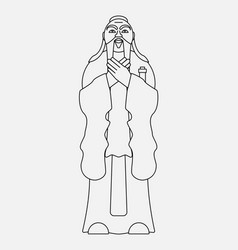 Symbol of chinese religion and confucian vector