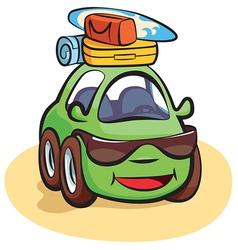 Traveling Car Cartoon vector image