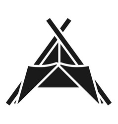 tribal tent icon simple style vector image