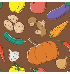 vegetables color pattern vector image