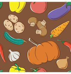 vegetables color pattern vector image