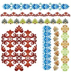 vintage border set 01 vector image