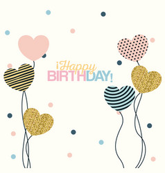 White dotted background with decorative balloons vector