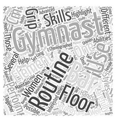 Womens Gymnastic Elements Word Cloud Concept vector