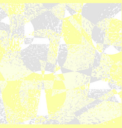 Yellow grey grunge geometric background vector