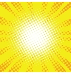 Yellow rays pop art retro comic background vector image