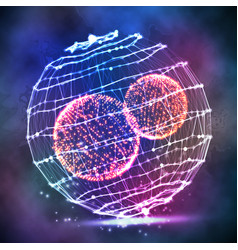 big data sphere cyber sphere structure vector image vector image