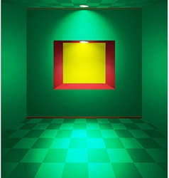 Green room with niche vector image