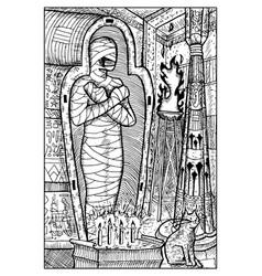 mummy engraved fantasy vector image vector image