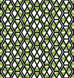 Bright symmetric endless pattern with zigzag black vector image vector image