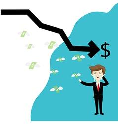 Businessman failure finance vector image vector image