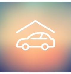 Car garage thin line icon vector image