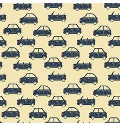 City car pattern blue vector
