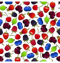 Colorful seamless pattern with sweet berries vector image vector image