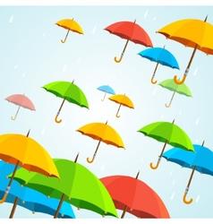 colorful umbrellas fly Flat Design vector image vector image