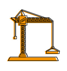 construction crane icon image vector image