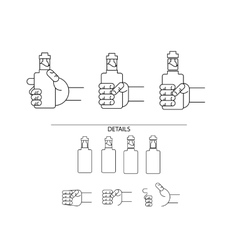 Set of icons of electronic cigarettes vector image
