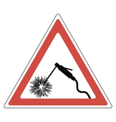 sign attention welding vector image vector image