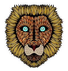 Tiger head zentangle vector image