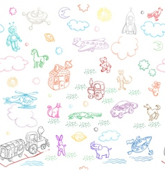 toy doodles pattern vector image