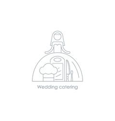 Bride linear icon reception arrangement vector