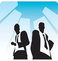 Businessmen on avenue vector image vector image