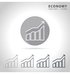 Economy outline icon vector