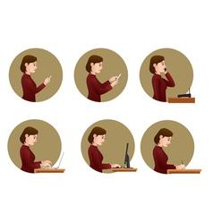 office activities vector image vector image