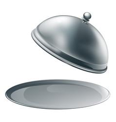 open silver platter vector image vector image