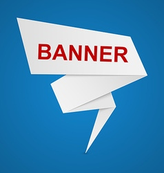 paper banners for your text vector image vector image