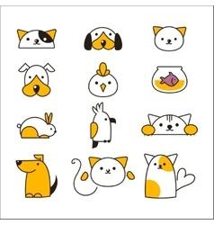 Pet shop symbols vector image vector image