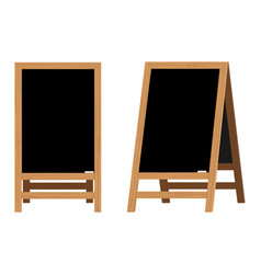 set of menu black boards vector image