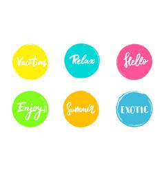Set of summer colorful universal use circles vector