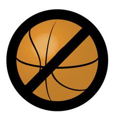 symbol ban ball for basketball game vector image vector image