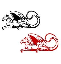 Vintage heraldic griffin vector image vector image