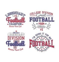 American Football Badges vector image vector image