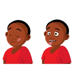 boy hungry expressions vector image