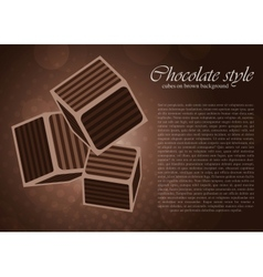 chocolate cube vector image vector image
