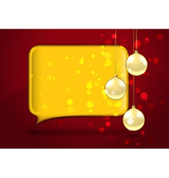 Christmas card with speech bubble vector image