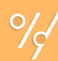a percent sign made by paper vector image