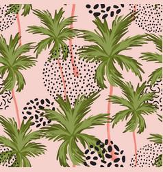 Abstract minimal tropics seamless pattern palm vector