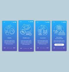 Advantages online tools onboarding mobile app vector