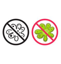 Antibacterial icon icons set ban virus vector