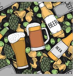 Background of beer vector