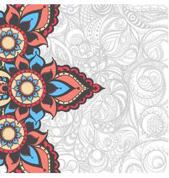 Beautiful indian pattern vector