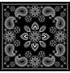 Black and White Bandana Print vector