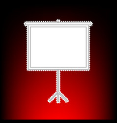 blank projection screen vector image