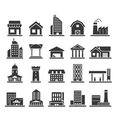 building facade construction and town home icon vector image