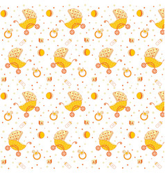 Childrens pattern yellow vector
