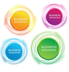 Circle infographic business template design Can be vector